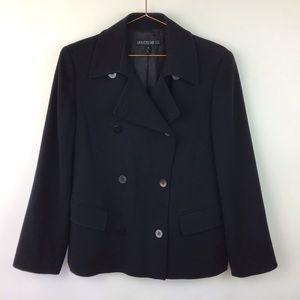 Lafayette 148 Black Double Breasted Blazer Size 8